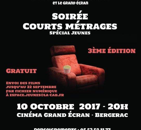 """RETOUR SUR: la 3ème édition de la soirée """"court-métrage spéciale jeunes"""" à Bergerac"""