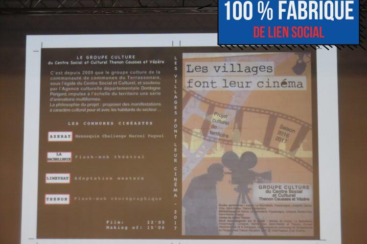 RETOUR SUR : « Les villages font leur cinéma » Projection du 22 Septembre 2017 à Thenon   100 % Fabrique de lien social