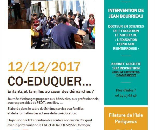 ACTU : Une journée rencontre sur le thème de la co-éducation organisée mardi 12 décembre 2017
